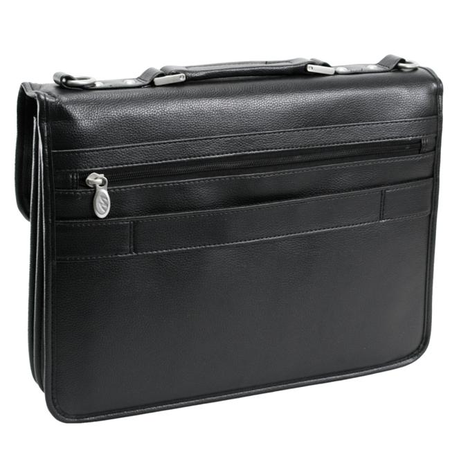 Skórzana torba podróżna na laptopa z odpinanym wózkiem Teczka 3w1 Mcklein Chicago 73585