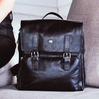 16f6c1d3226e3 DAAG Jazzy Party 58 skórzany plecak w kolorze czarnym