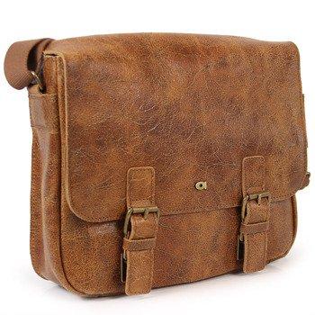 e86316fd62a72 DAAG Jazzy Wanted 32 brązowa torba skórzana unisex listonoszka przez ramię