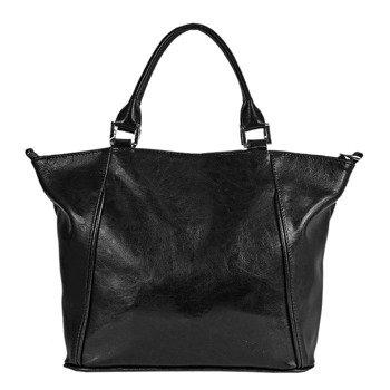 DAN-A T208A czarna torebka skórzana damska kuferek