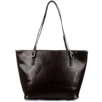 DAN-A T273 czekoladowa torebka skórzana damska elegancka