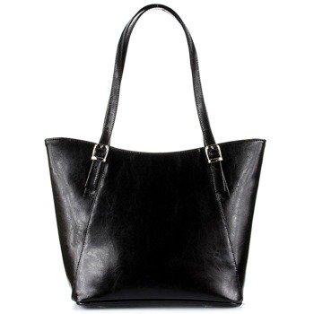 DAN-A T275 czarna torebka skórzana damska elegancka