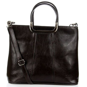 DAN-A T280 czekoladowa torebka skórzana damska elegancka