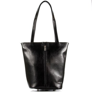 DAN-A T301 czarna torebka damska skórzana
