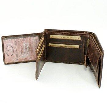 Elegancki portfel męski brązowy GA52