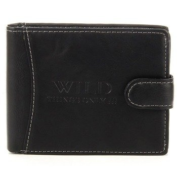Elegancki portfel męski czarny GA52