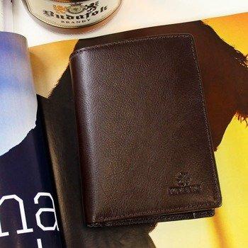 KRENIG Classic 12088 ekskluzywny skórzany portfel męski brązowy w pudełku