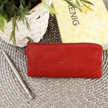KRENIG Classic 12097 czerwone skórzane etui na klucze