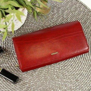 0782cba496245 KRENIG El Dorado 11015 ekskluzywny czerwony skórzany portfel damski w  pudełku