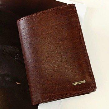 0eb6cc56395ee KRENIG El Dorado 11029 brązowy portfel skórzany męski w pudełku