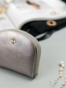 3f797356026d6 Mała portmonetka damska na zamek srebrna Milano Design