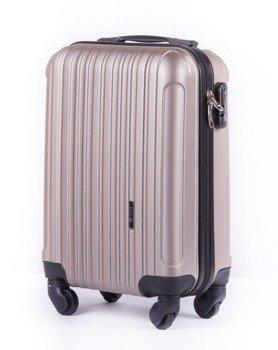 09cb4ce4b8ca8 Mała walizka podróżna na kółkach (bagaż podręczny) SOLIER STL2011 ABS  szampańska