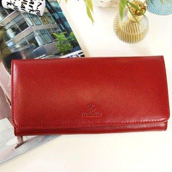 c1174bc310431 Portfel skórzany damski KRENIG Classic 12026 czerwony w pudełku