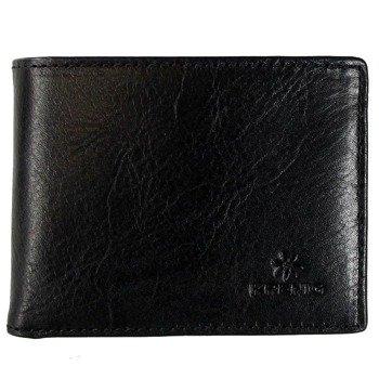Portfel skórzany męski KRENIG Classic 12003 czarny w pudełku