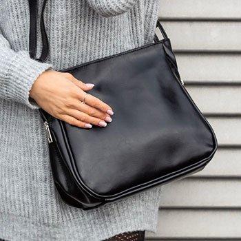 Skórzana torebka damska modne torby damskie włoski Zdjęcie