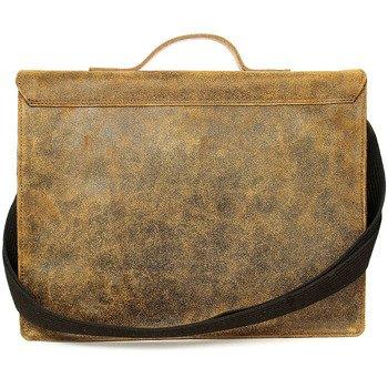 Skórzana torba na ramię / teczka do ręki brązowa 2JUS by DAAG Land 1