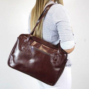 Skórzana torebka damska koniakowa DAN-A T130
