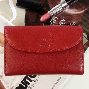 Skórzany portfel damski KRENIG Classic 12083 czerwony w pudełku