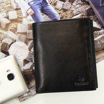 Skórzany portfel męski KRENIG Classic 12040 czarny w pudełku