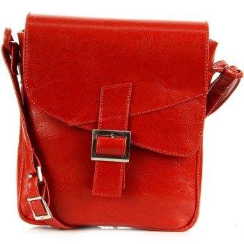 Torebka skórzana damska listonoszka DAN-A T187 czerwona