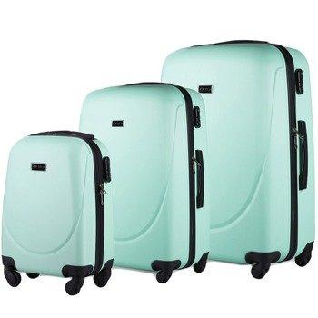 Zestaw walizek podróżnych na kółkach SOLIER STL310 ABS jasnozielony