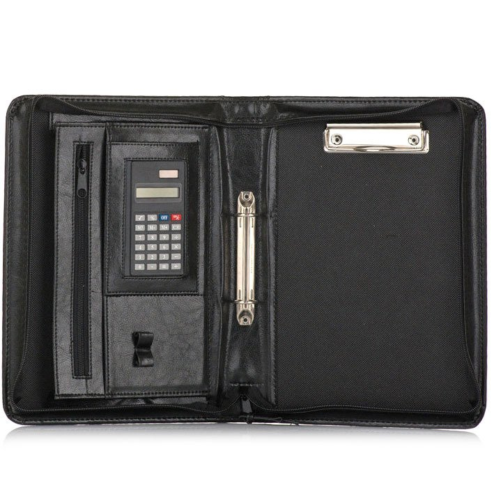 aeac551292fe Aktówka biwuar na dokumenty A5 z kalkulatorem Solier ST02 czarny ...