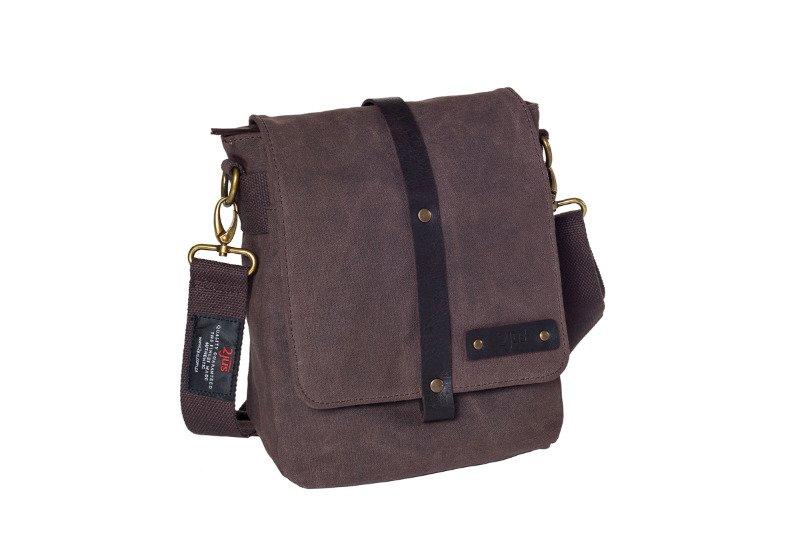 e3ffbc276b361 Bawełniana torba na ramię unisex 2JUS by DAAG Zone 2 brązowa ...