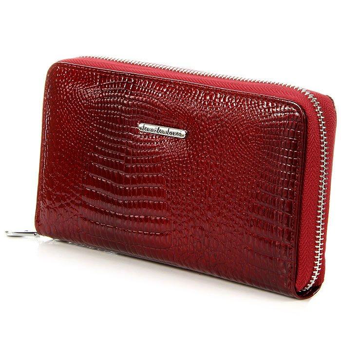152b4823df74a Czerwony skórzany lakierowany portfel damski kopertówka GA1 -  13140 ...