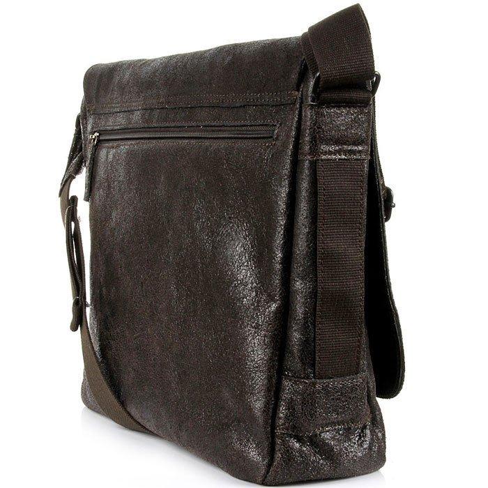 DAAG Jazzy Run 1 skórzana torba na ramię unisex ciemnobrązowa