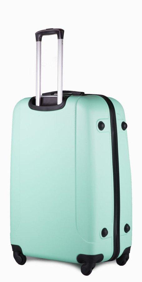 745967d207677 Duża walizka podróżna na kółkach SOLIER STL310 L ABS jasnozielona ...