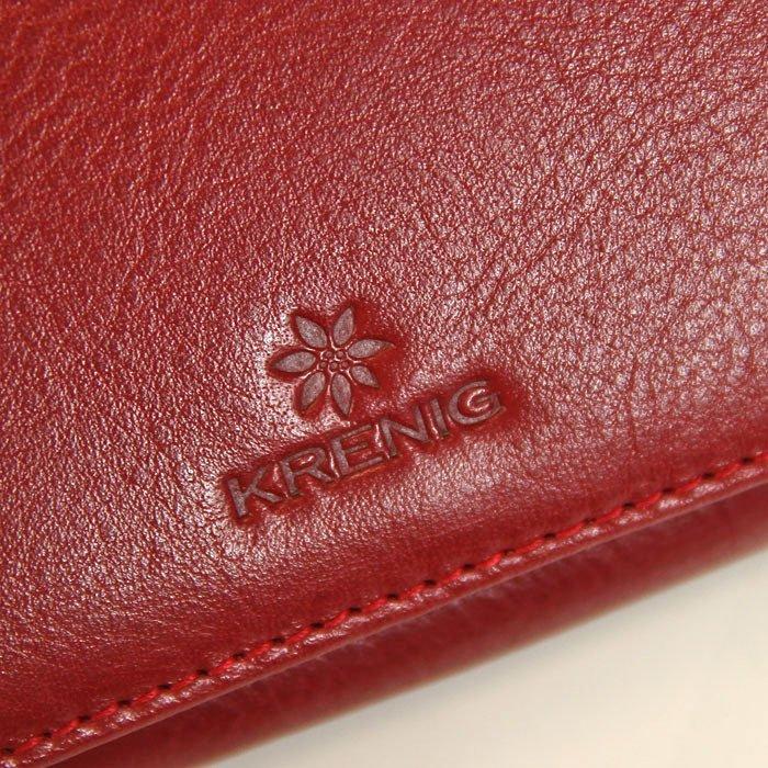 0eba526039768 ... Portfel skórzany damski KRENIG Classic 12026 czerwony w pudełku ...