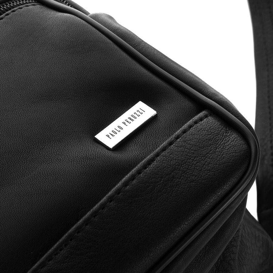 Skórzana torba męska do pracy czarna PAOLO PERUZZI B 11
