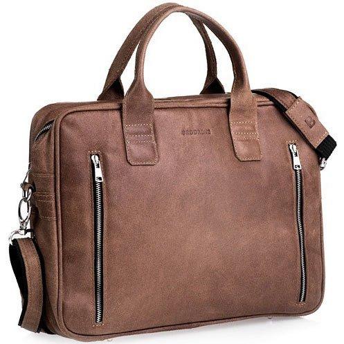 afec42fdd77f8 Skórzana torba męska na laptop BRODRENE BL02 jasnobrązowa - [14235 ...