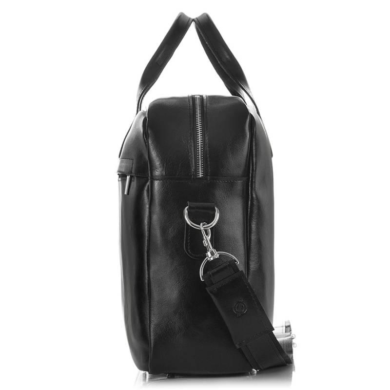 89f18bf6a7174 Skórzana torba męska na laptopa 17  BRODRENE R03XL czarna -  17020 ...