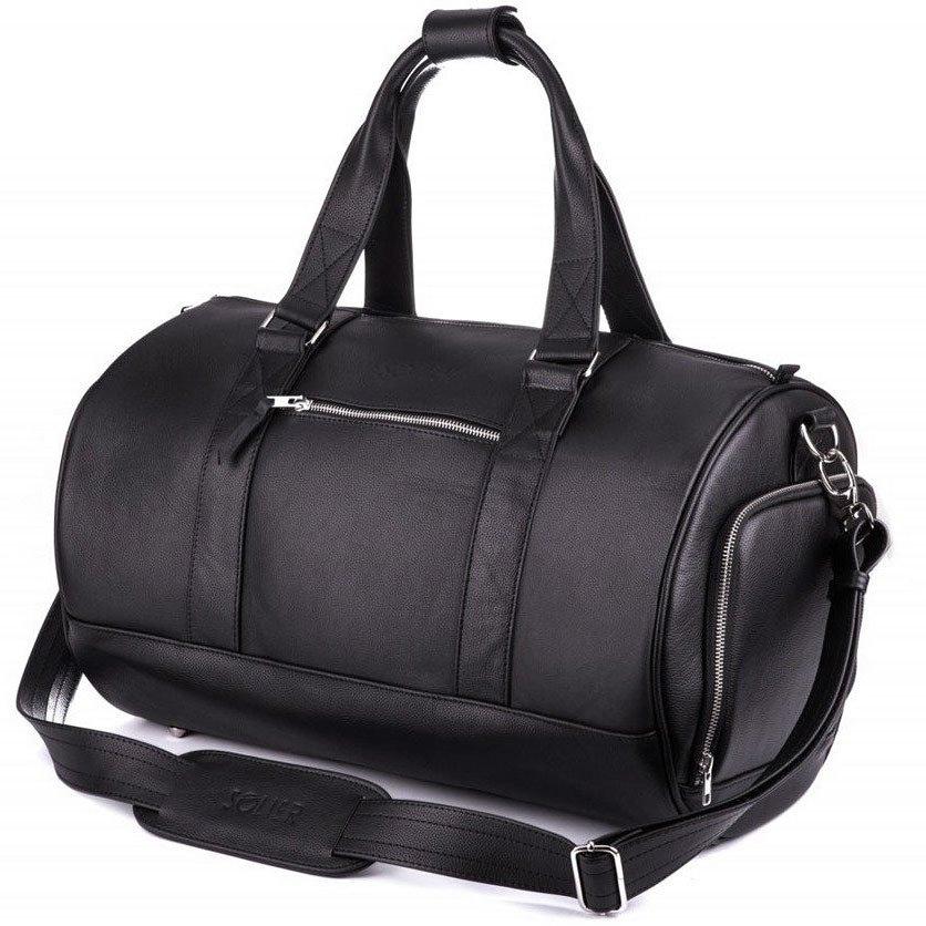 7e6971383ed1b Skórzana torba męska weekendowa SOLIER SL19 Brandon czarna - [17583 ...