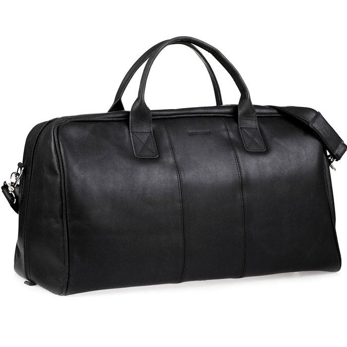 f10a3b441f1bd Skórzana torba podróżna BRODRENE BL10 czarna - [14255] | - Skorzana.com