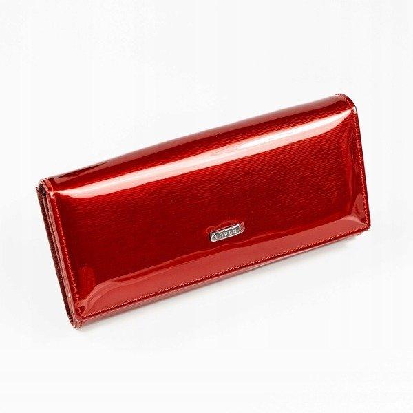 461d220fb4c13 Skórzany portfel damski lakierowany czerwony Loren 72401 -  20453 ...