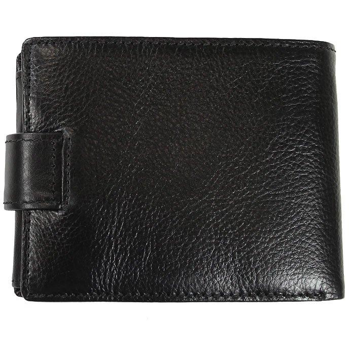 Skórzany portfel męski KRENIG Classic 12080 czarny w pudełku