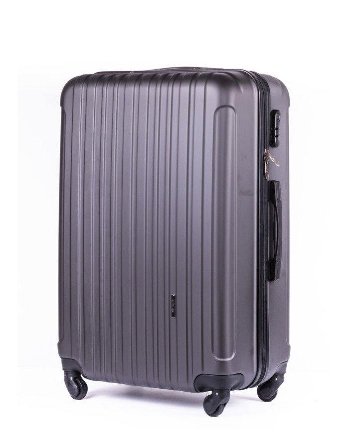9086fb010240f Średnia walizka podróżna na kółkach SOLIER STL2011 M ABS ciemnoszara ...