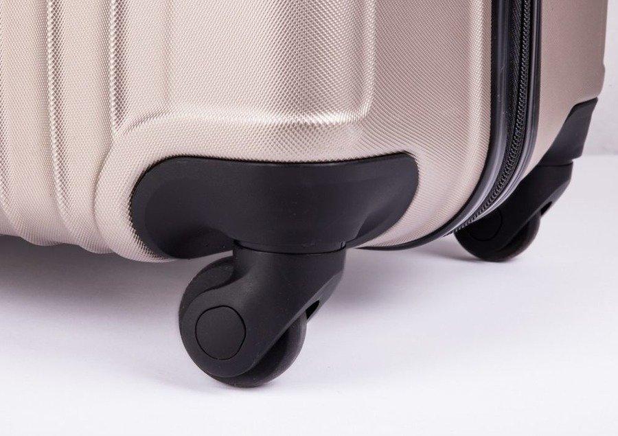 f8de64509d5e1 ... Średnia walizka podróżna na kółkach SOLIER STL2011 M ABS ciemnoszara ...