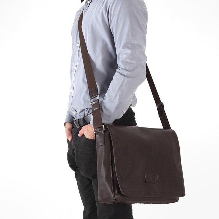 b1386e71c5f25 Stylowa torba męska na ramię casual SOLIER S11 brązowa - [14460 ...