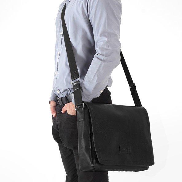 78c1d02fac03d Stylowa torba męska na ramię casual SOLIER S11 czarna - [14461 ...