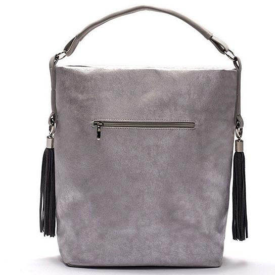 Torba damska shopper bag FELICE silver