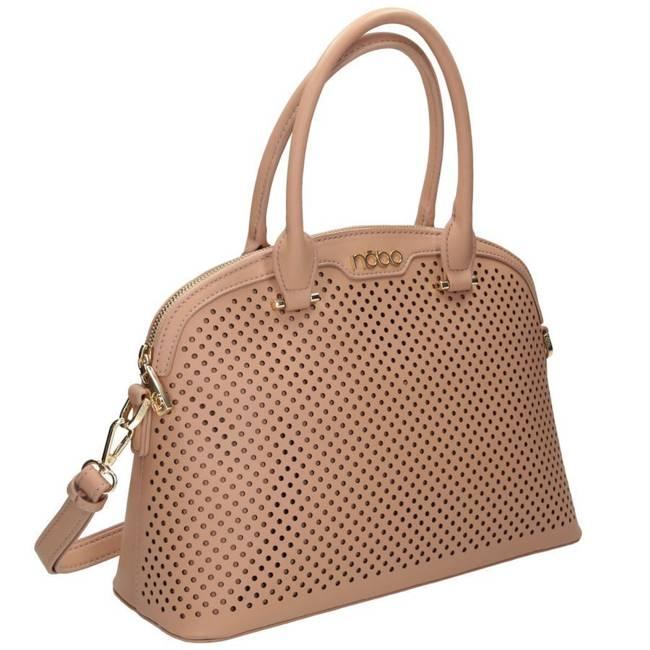 Ażurowa torebka beżowa Nobo NBAG-I3550-C015