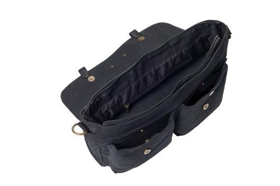 Bawełniana torba na ramię unisex 2JUS by DAAG Zone 1 czarna