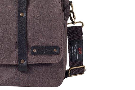 Bawełniana torba na ramię unisex 2JUS by DAAG Zone 2 brązowa