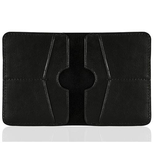 Cienki skórzany portfel męski Solier SW10 czarny