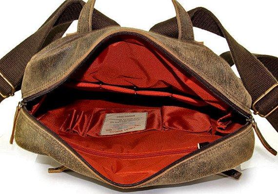 DAAG Jazzy Risk 145 plecak brązowy skórzany unisex