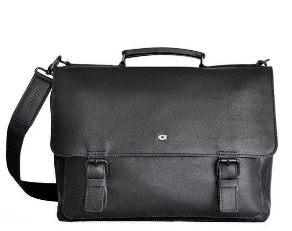 Skórzana teczka na laptopa unisex DAAG Jazzy Smash 82 czarna