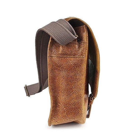 DAAG Jazzy Wanted 10 brązowa torba skórzana unisex listonoszka przez ramię